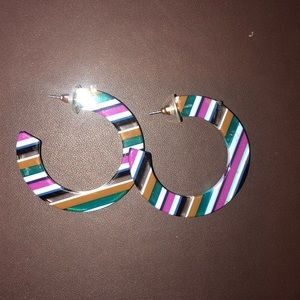 Plastic hoop earrings from ModCloth!